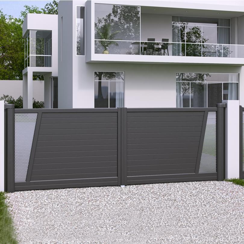 portail 2 vantaux cetal multiclot cl tures et portails gironde 33. Black Bedroom Furniture Sets. Home Design Ideas