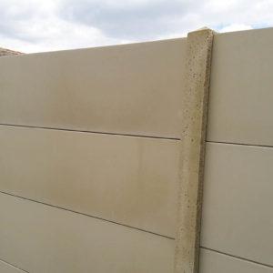 clôture béton lisse pierre