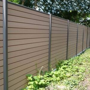 Panneaux clôtures bois et/ou composite, pour une finition naturelle.