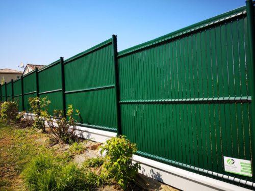 Clôture Panneau rigide avec occultation PVC vert