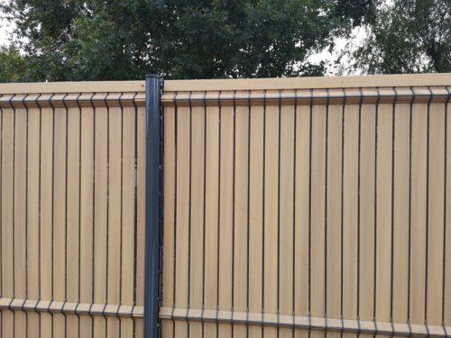 Clôture Panneau rigide occultation Bois PVC